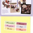"Creative Memories ""Thanks To You"" Titles Page Kit"