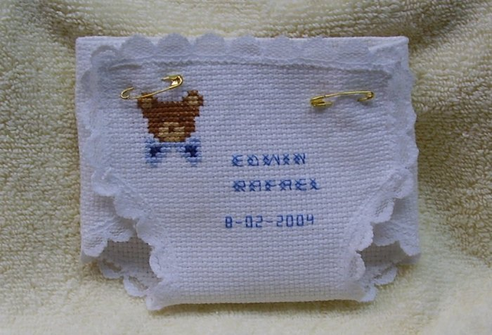 Cross Stitch Souvenirs for Baby Showers