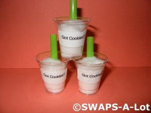 Mini Got Cookies? Cup of Milk SWAPS Kit for Girl Kids Scout makes 20