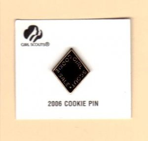 Girl Scout Cookie Activity Sale- Girl Cookies Pin- Black 2006