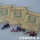 Mini Friendship Notes SWAPS Kit  for Girl Kids Scout makes 25