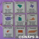 Mini YOUR State Facts-Capital,Flower SWAPS Kit for Girl Kids Scout makes 25