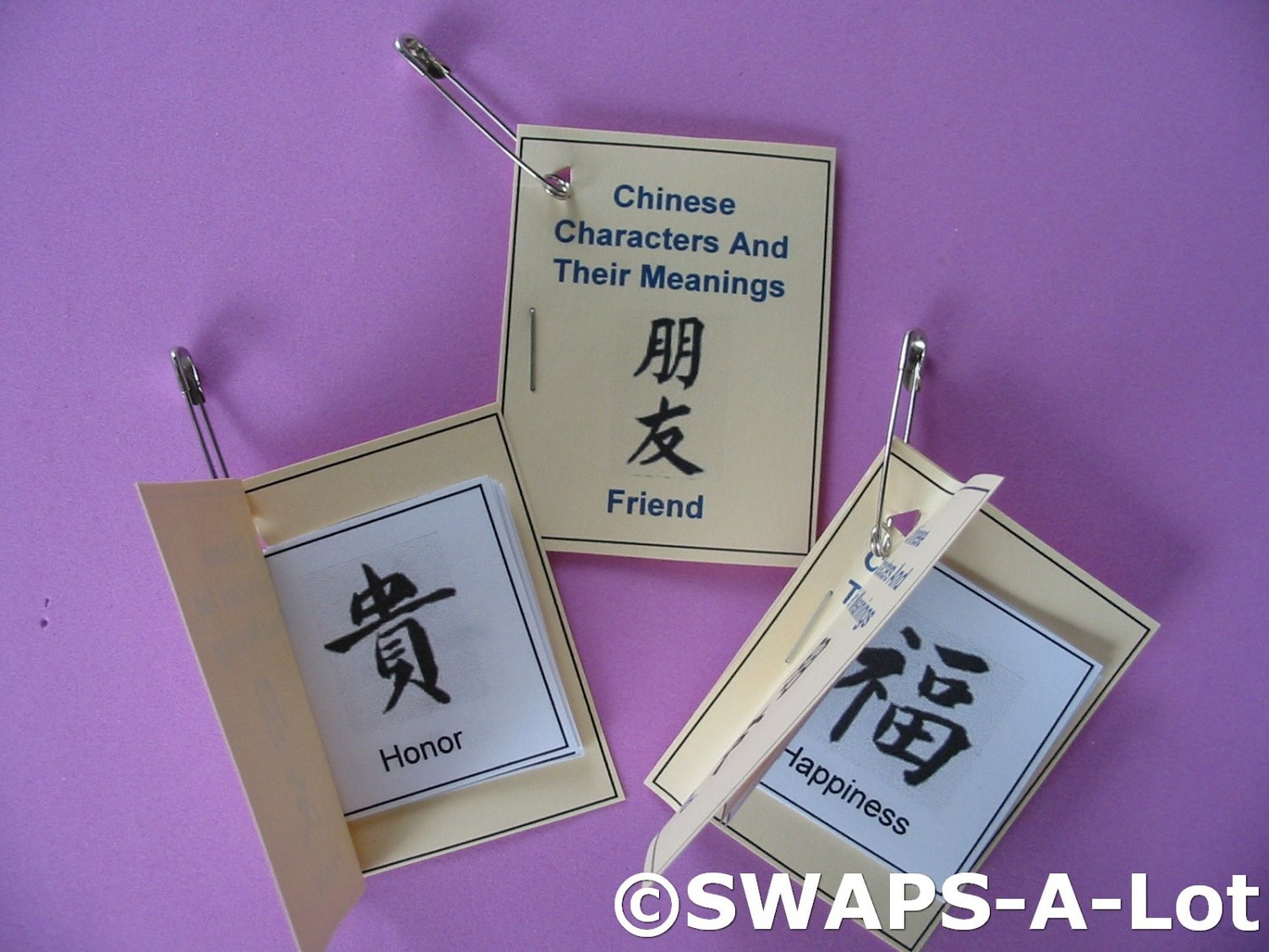 Mini Chinese Character/Meaning Booklet China Thinking Day
