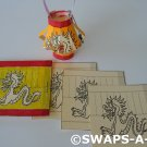 Mini Chinese/Japanese Paper Lantern China Japan Thinking Day SWAPS Kit for Girl Kids Scout makes 25