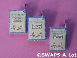 Mini Cocoa Packet Christmas Caroling SWAPS Kit Girl Kids Scout makes 25