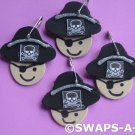 Mini Lil' Pirate w/Eye Patch, Hat SWAPS Kit for Girl Kids Scout makes 25