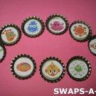 Mini Aliens-n-Bottle Caps SWAPS Kit for Girl Kids Scout makes 25