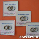 Mini Make New Friends Silver/Gold SWAPS Kit for Girl Kids Scout makes 25