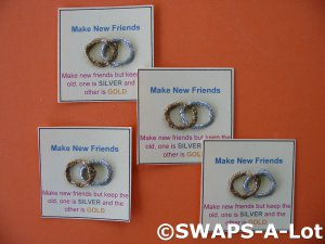 No License Required Car Sales >> Mini Make New Friends Silver/Gold SWAPS Kit for Girl Kids Scout makes 25