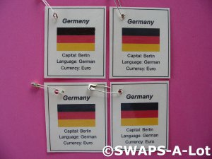 Mini Germany: Flag, Capital Thinking Day SWAPS Kit for Girl Kids Scout makes 25
