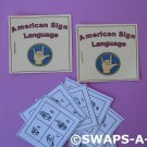 Mini Sign Language Booklet SWAPS Kit for Girl Kids Scout makes 25