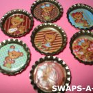 Mini Teddy Bear-n-Bottle Caps SWAPS Kit for Girl Kids Scout makes 25