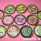 Mini Go Green/Recycle-n-Bottle Caps SWAPS Kit for Girl Kids Scout makes 25