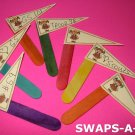 Mini Brownie Flag Pennant SWAPS Kit for Girl Kids Scout makes 25