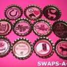 Mini Cowgirl Up-n-Bottle Caps SWAPS Kit for Girl Kids Scout makes 25