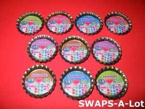 Mini Senior GS Are The Best Bottle Caps SWAPS Kit for Girl Kids Scout makes 25