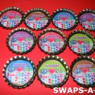 Mini Junior GS Are The Best  Bottle Caps SWAPS Kit for Girl Kids Scout makes 25
