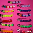 Mini Herman the Worm Safety Pin SWAPS Kit for Girl Kids Scout makes 25