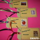 Mini Greetings From Denmark Stamps Thinking Day SWAPS Kit for Girl Kids Scout makes 25