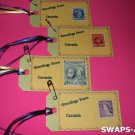 Mini Greetings From Canada Stamps Thinking Day SWAPS Kit for Girl Kids Scout makes 25