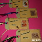 Mini Greetings From Mexico Stamps Thinking Day SWAPS Kit for Girl Kids Scout makes 25