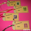 Mini Greetings From Japan Stamps Thinking Day SWAPS Kit for Girl Kids Scout makes 25