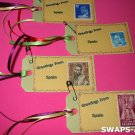 Mini Greetings From Spain Stamps Thinking Day SWAPS Kit for Girl Kids Scout makes 25