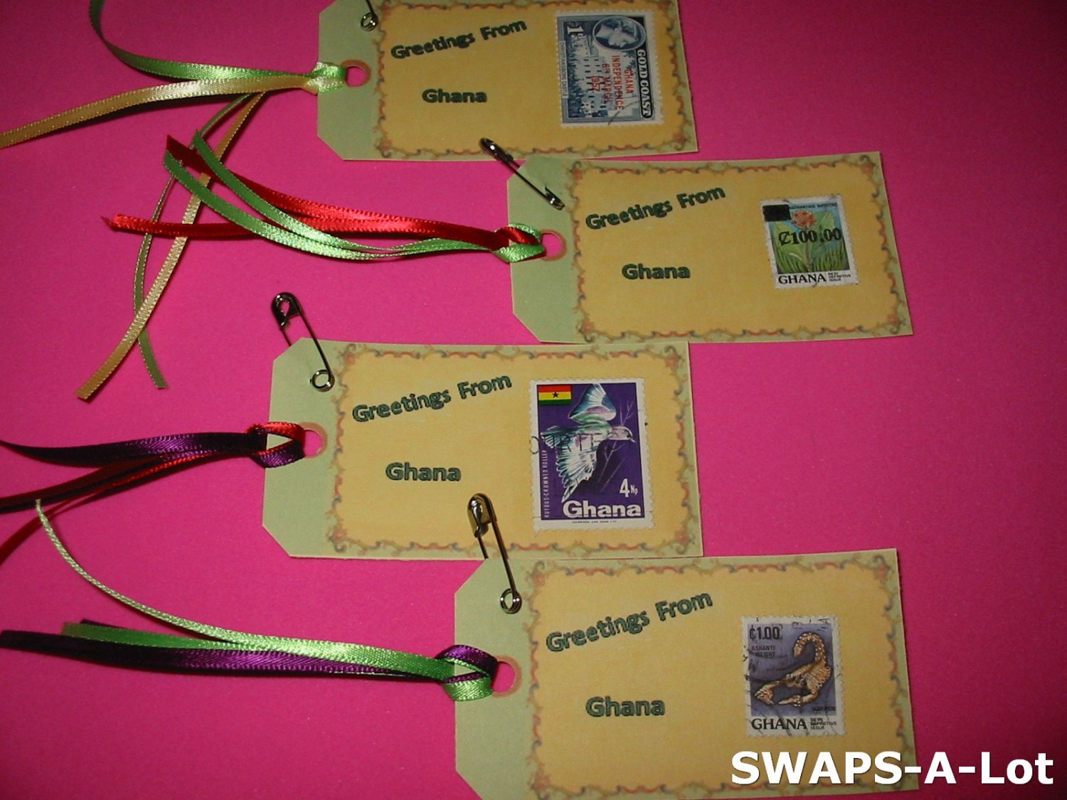 Mini Greetings From Ghana Stamps Thinking Day Swaps Kit For Girl
