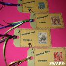 Mini Greetings From Sweden Stamps Thinking Day SWAPS Kit for Girl Kids Scout makes 25