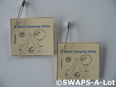 Mini 8 Basic Camping Skills Booklet SWAPS Kit for Girl Kids Scout makes 25