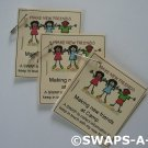 Mini Make New Friends at Camp Booklet SWAPS Kit for Girl Kids Scout makes 25
