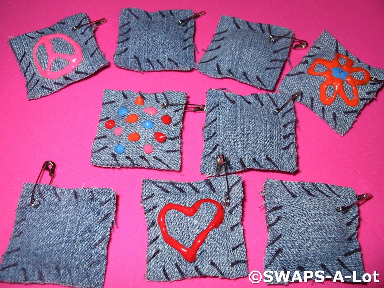 Mini Blue Jean Sit Upon Girl Scout SWAPS Kids Craft Kit makes 25