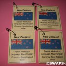 Mini New Zealand: Flag, Capital Thinking Day Girl Scout SWAPS Kids Craft Kit makes 25