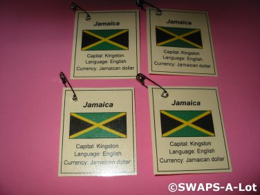 Mini Jamaica: Flag, Capital Thinking Day Girl Scout SWAPS Kids Craft Kit makes 25
