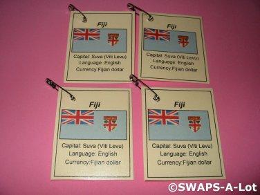 Mini Fiji: Flag, Capital Thinking Day Girl Scout SWAPS Kids Craft Kit makes 25