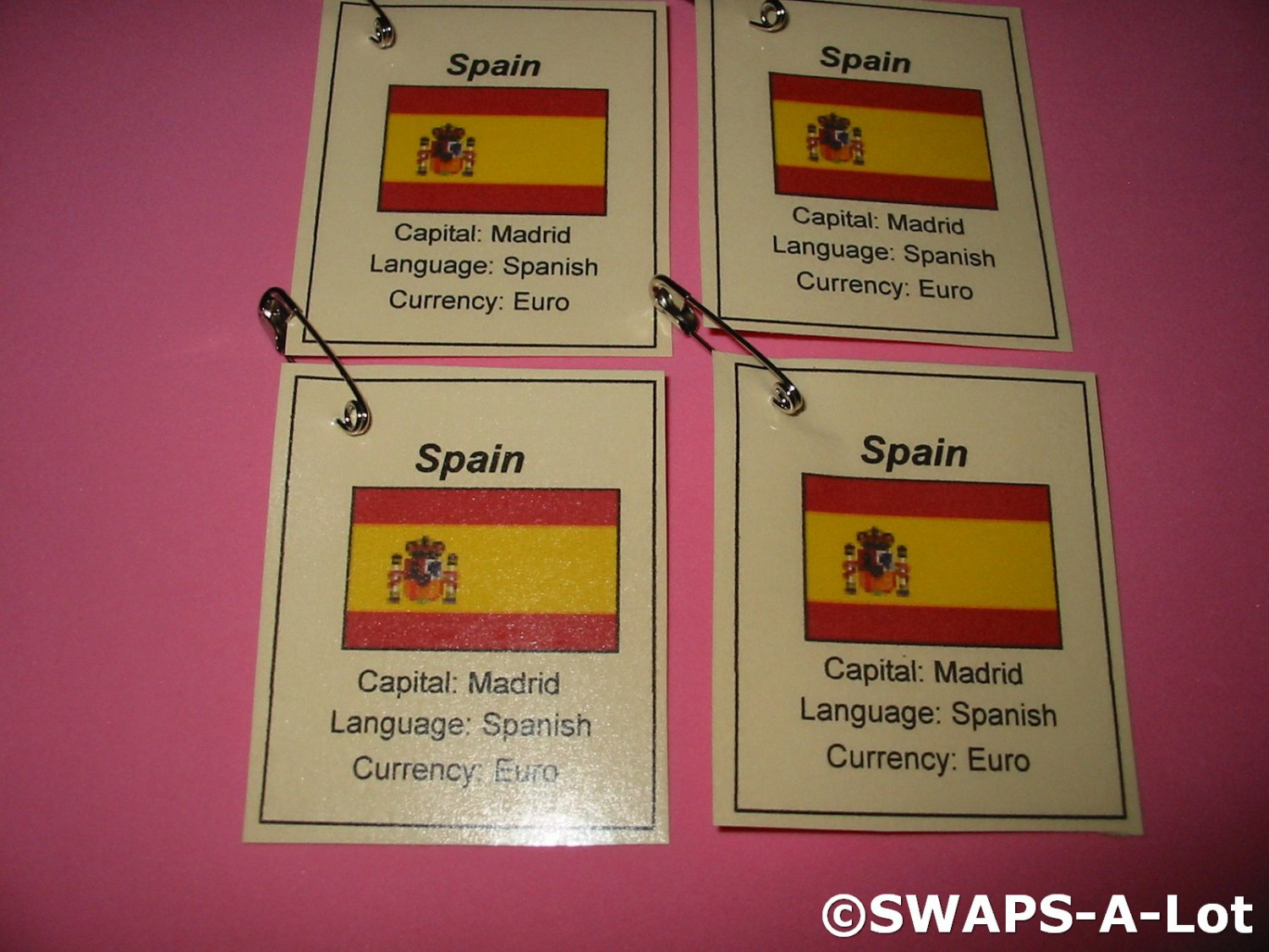 mini spain flag capital thinking day girl scout swaps
