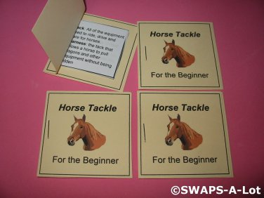 Mini Horse Tackle For The Beginner Booklet Girl Scout SWAPS Kids Craft Kit makes 25
