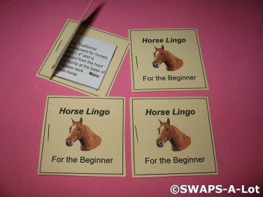 Mini Horse Lingo For The Beginner Booklet Girl Scout SWAPS Kids Craft Kit makes 25