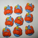 Lot of 48 Cutie Crab Fimo Clay Charms 3/4""