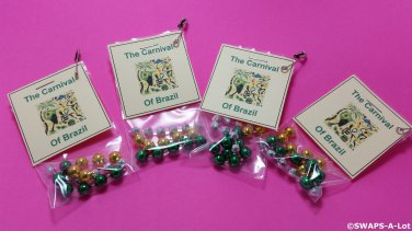 Mini Carnival of Brazil in a Bag Thinking Day Girl Scout SWAPS Kids Craft Kit makes 25