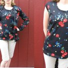 ~VtG 60s 70s mod 2 pc set Hippie POPPY TUNIC TOP S/M