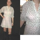 Vtg MiNi SUN DRESS Mod Hippie SHEER Lil floral print XS