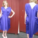 FAB vintage 60s REGAL PURPLE SaTiN COCKTAIL dress M/L