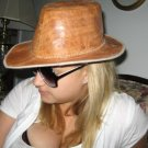 UNIQUE handmade indie LEATHER Indiana Jones Hat UNISEX