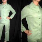 60s vintage 2 pc MOD retro PANTS SUIT XS S