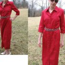 TALBOTS Long Summer SHIRT DRESS Buttons RED NWT NEW 6