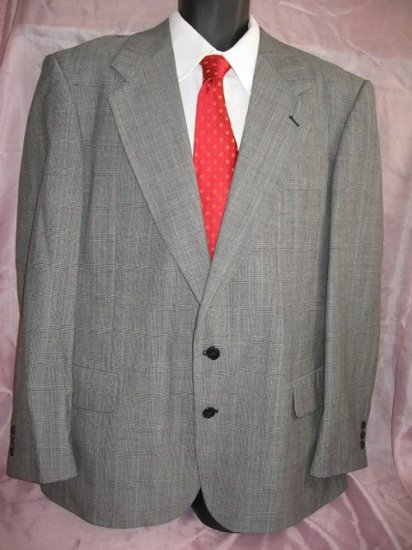 BARRY Gray Worsted Wool Blazer Sportcoat Metro Chic 44