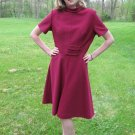 Vintage WINE Dress Mod Space Age Hippie 60s M/L