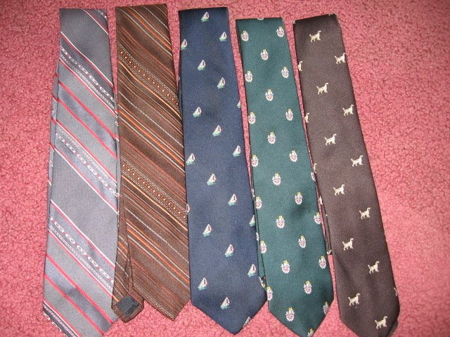 STRAWBRIDGE lot of 5 cravat TIE bow necktie