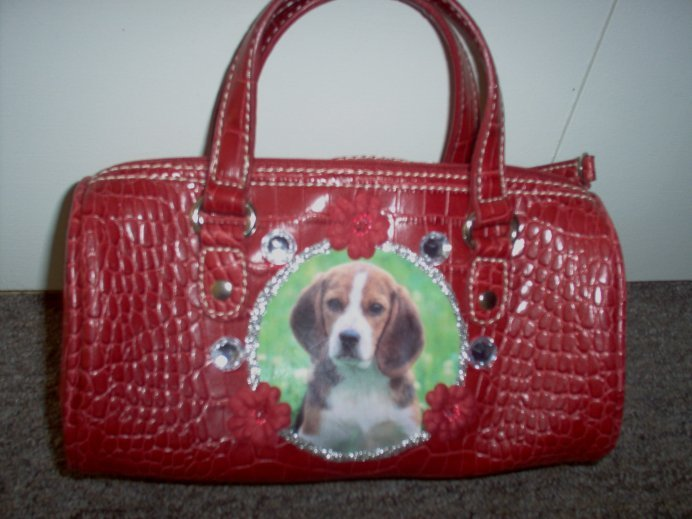 DIY Beagle Handbag Purse Clutch OOAK